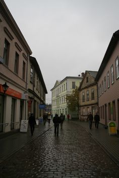 Small Old Town in Liepaja in Latvia. City is located on coastline, in Western part of the country