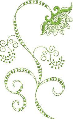 Folk Art Batik Embroidery 24  Susa Glenn Machine Embroidery Machine Embroidery