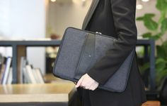 Better Together 13 in. Laptop Pouch v2 in Black or Grey