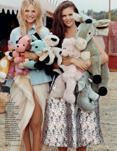 """""""Le Petit Cirque"""" Jena Goldsack and Nadine Leopold by Matt Jones for ELLE Italy March 2014"""
