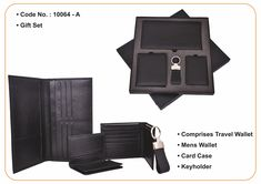 S R Brothers offer leather GIFT SET - Comprises Travel Wallet, Men's Wallet, Card Case, Keyholder. will surely be your all-time favourite accessory. An ideal Corporate gift from S R Brothers, pioneers in the field of Corporate gifts from India. Email us for your corporate gift requirements at info@srbrothers.com & Visit our website www.srbrothers.com