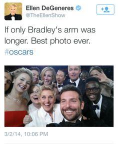 Ellen DeGeneres' GREATEST SELFIE OF ALL TIME - Oscars 2014