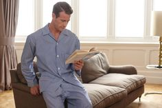 Two-Fold Pyjamas in Mens Sleepwear, Night Suit, Pyjamas, Fasion, Daily Fashion, Nightwear, Menswear, Dreams, Suits