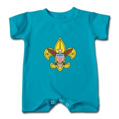 Cartoon Eagle And Flag Turquoise Cute T-romper For Baby Supply-Funny Clothing with 100% pre-cotton shirts with expert online help. Print your own shirt with custom text, designs or photos.