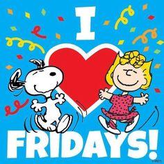 I love Fridays snoopy friday happy friday tgif friday quotes friday quote quotes about friday friday quotes for friends snoopy friday quotes Snoopy Friday, Friday Humor, Friday Facts, Peanuts Cartoon, Peanuts Snoopy, Snoopy Cartoon, Cartoon Fun, Snoopy Love, Snoopy And Woodstock