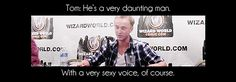 "living-death: "" Tom talking about Alan Rickman. """