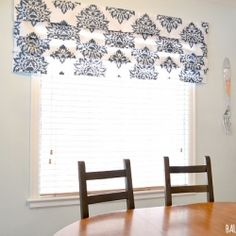 Using a curtain on clearance, a left over piece of wood, ribbon, a staple gun and fabric tape I created this no sew faux roman shade.