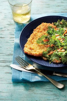 Budget-Friendly Quick-Fix Meals: Crispy Ramen-Crusted Chicken with Asian Salad