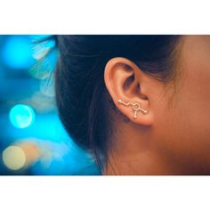 Dopamine sterling silver ear pins