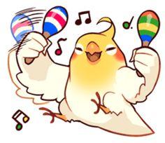 Coca Bird by ErA sticker Cute Cartoon Drawings, Cute Kawaii Drawings, Bird Drawings, Funny Birds, Cute Birds, Parrot Drawing, Diy Bird Toys, Bird People, Funny Parrots