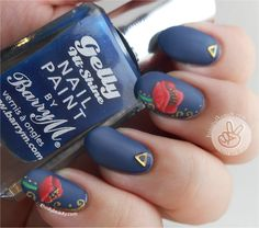 Ithinity Beauty - Nail Art Blog: Freehand Rememberance Poppies