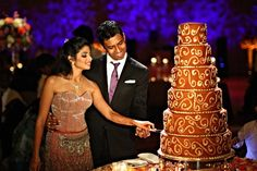Rich tones of brown and gold - perfect for an Indian wedding