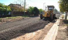 Tareas de mantenimiento y mejoramiento en las calles de la ciudad