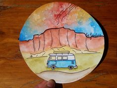 Hey, I found this really awesome Etsy listing at https://www.etsy.com/listing/471013048/red-rocks-be-fearless-vw-bus-watercolor