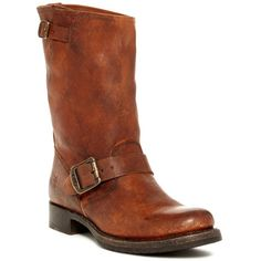 Frye Veronica Short Boot ($180) ❤ liked on Polyvore featuring shoes, boots, ankle booties, cognac, ankle boots, frye booties, short boots, cognac booties and cognac boots
