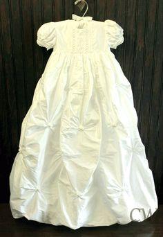 Leila Silk Christening Gown