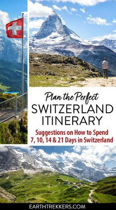 Best Switzerland itinerary for and 21 days in Switzerland. Here are five detailed itineraries to help you plan the perfect trip. Switzerland Travel Guide, Switzerland Itinerary, Switzerland Vacation, Europe Travel Tips, Travel Guides, Travel Destinations, European Destination, European Travel, Swiss Travel Pass