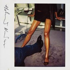Helmut Newton: Untitled, Paris, U. Vogue, (Two pairs of legs) , 1995 Polaroid print 12 x 13 cm. Erotic Photography, Color Photography, Fashion Photography, Helmut Newton Polaroids, Helmut Newton Women, Helmet Newton, Guy Bourdin, Beauty Shoot, Photography