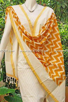 Stunning Woven Ikkat dupatta   India1001.com