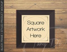 8x8 10x10 16x16 Square Black Frame Hanging by TanyDiDesignStudio