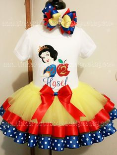snow white tulle dress birthday outfit 1st birthday tutu inspiredby disney tutu set toddler hair bow birthday ribbon trim tutu yellow tutu