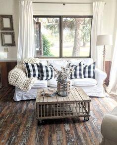 Vintage French Soul ~ Rustic Farmhouse Living Room Decor Ideas 27