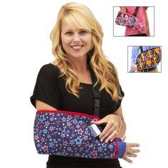"""Show your patriotic spirit with Slingz! arm slings in """"American Pride"""", available in other patriotic prints, too! Cast Covers Arm, Shoulder Surgery Recovery, Elbow Surgery, Arm Sling, Arm Cast, Elbow Pain, Hand Wrist, American Pride, Sewing Tutorials"""