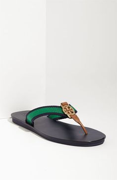 Tory Burch 'Lise' Thong Sandal - Great summer sandal...love the color and it's flat!! Practical and cute!