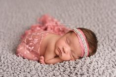 Rose Pink Flower Tassel Lace Wrap Newborn Swaddle | Beautiful Photo Props