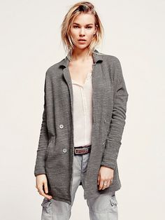 Free People Casual Friday Blazer at Free People Clothing Boutique Casual Blazer, Free People, Fall Winter, Coat, My Style, Sweaters, Jackets, Friday, Shopping