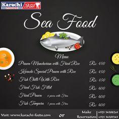 #SEAFOOD #MenuCard #KarachiFoods