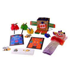 Caja BeeBox Monstruos 😈.  Cada caja de BeeBox incluye 3 o 4 manualidades con los materiales y el instructivo para desarrollar los proyectos, actividades que vas a encontrar en esta caja: cajas monstruosas donde los niños podrán dejar volar su imaginación y crear divertido monstruos.