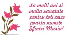 Felicitari de Sfanta Maria - Fie ca Sf. Fecioara Maria, sa te ocroteasca, sa-ti calauzeasca pasii si sa-ti lumineze calea. La Multi Ani! - mesajeurarifelicitari.com