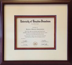 40 best framing of degrees diplomas and graduation invitations university of houston downtown degree filmwisefo