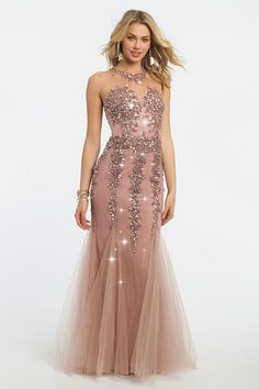 Formal Tulle Halter Neckline Mermaid Evening Dress With Beaded Lace  Appliques Beautiful Long Dresses 703f920cacc2