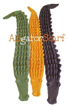 Super cute kids alligator scarf!!