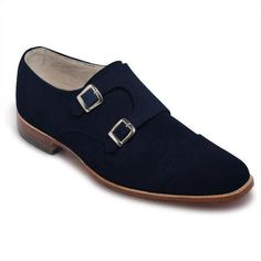 Men Navy Blue Double Monk Suede Leather Shoes Description: Below are the main features of the product - High Quality Suede Leather- Handmade Leather Shoes- Beautiful Double Monk Navy Blue leather Shoes Style- High Quality Premium Double Monk Leather Shoes Leather Top Hat, Purple Leather Jacket, Suede Leather Shoes, Leather Skin, Bit Loafers, Oxford Brogues, Handmade Leather Shoes, Brown Oxfords, Dress With Boots