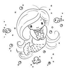 Cute Mermaid Coloring Pages . Cute Mermaid Coloring Pages . Coloring Ideas the Little Mermaid Coloring Pages Free to Mermaid Coloring Pages, Coloring Pages To Print, Coloring Book Pages, Printable Coloring Pages, Coloring Sheets, Tattoo Painting, Cute Mermaid, Beautiful Mermaid, Baby Mermaid