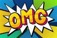 Speech bubble OMG Message in pop art style, promotional background, presentation poster. Pop Art Drawing, Art Drawings, Pop Art Vector, Pop Art Tattoos, Tattoo Art, Desenho Pop Art, Pop Art Girl, Grafiti, Retro Wallpaper