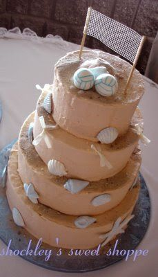 A Beach Volleyball Wedding Cake With Matching Unc Groom S Great Match For Sweet Who Love Brought Them T