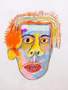 Baby Hands, Outsider Art, Color Combos, Illustration Art, Illustrations, Doodles, Portrait, Comics, Paintings