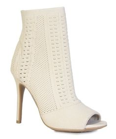 4b5133672223e Look what I found on  zulily! Nude Knit Royals Bootie  zulilyfinds Bootie  Sandals. Bootie SandalsOpen Toe ...