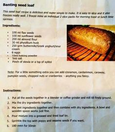 Can be used for sarmies Banting Bread, Banting Diet, Banting Recipes, Paleo Recipes, Low Carb Recipes, Cooking Recipes, Lchf, Braai Recipes, Kitchen Recipes