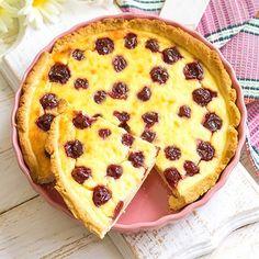 Kirsch Pudding Schmand Kuchen - Klarstein Magazin