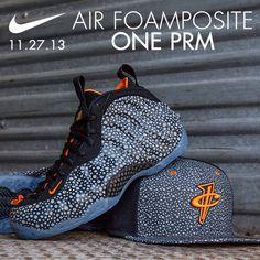 "Available 11/ 27/ 13- Nike: Air Foamposite One Prm ""Safari"" -  Anthricite/ Total Orange and Nike Penny Safari Reflective snapback #jimmyjazz #trendingnow #Nike #Foamposite #safari #Penny #reflective #IGsneakercommunity jimmyjazz.com"