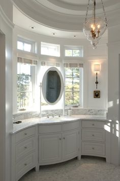 Bathroom Vanity In Front Of Window splendor in the bath. mirrors in front of windows. campaign style