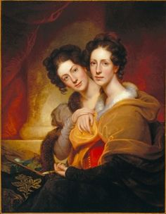 19th-century American Women: Portraits of Women by Rembrandt Peale (American painter, 1778-1860)Peale sisters