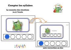 Le monstre des couleurs va à l'école : compter les syllabes – MC en maternelle