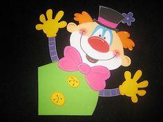 "Fensterbild aus Tonkarton ""Clown"" Eckengucker"