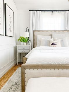 serene and neutral modern traditional bedroom design | pottery barn toulouse bed, Indian Home Interior, Minimalist Home Interior, Luxury Homes Interior, Home Interior Design, Interior Livingroom, Quirky Home Decor, Fall Home Decor, Cheap Home Decor, Traditional Bedroom